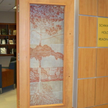Schwab Holocaust Reading Room Glass Door