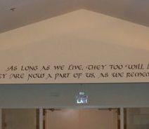Memorial Chapel Wall