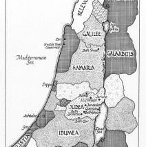 Map of Ancient Judea and Samaria