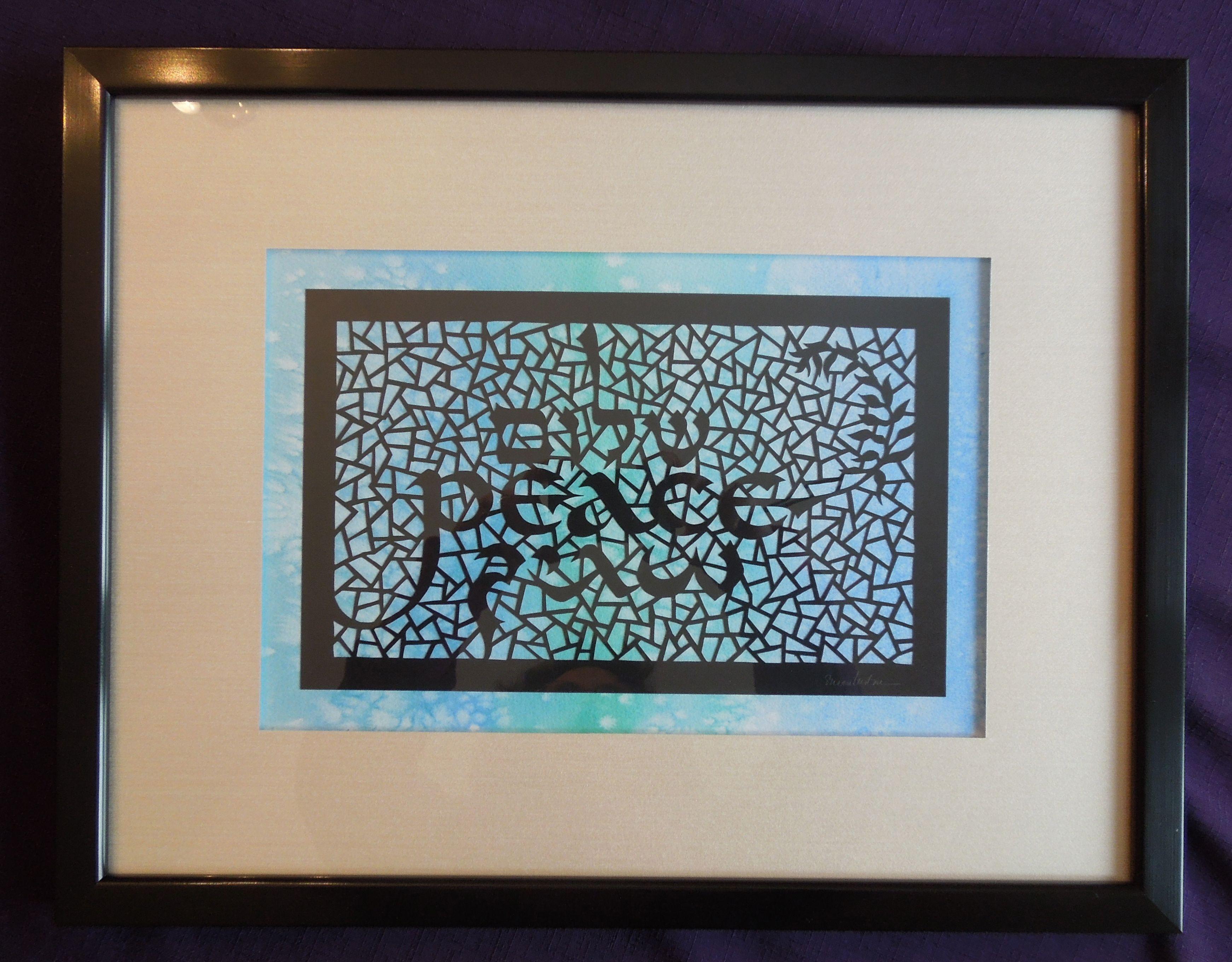 Peace - trilingual papercut