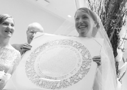bellin ketubah at huppah