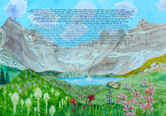 Glacier National Park Ketubah