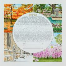 Seasons in New Haven and Philadelphia Ketubah