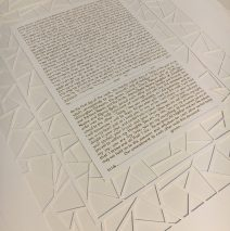 White on White Lattice Ketubah
