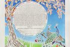 Peacock Pair in the Pomegante Tree Ketubah