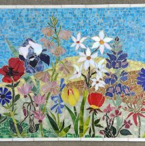 Israeli Wildflowers Glass Mosaic